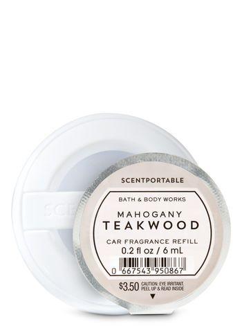 Mahogany Teakwood Scentportable Fragrance Refill Bath And Body