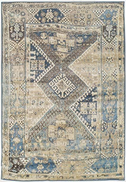 Premium Heavy Duty Thick Traditional Area Rugs Blue Beige Navy Brown Cream Oriental Rug Distressed Vintage Carpet For Li Vintage Carpet Living Room Carpet Rugs