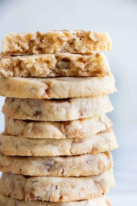 Butter Pecan Shortbread Cookies