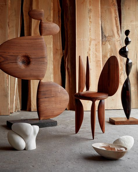 Barbara Hepworth–Inspired Objects By an Architect-Turned-Sculptor in Copenhagen – Sight Unseen - Sculpture Barbara Hepworth, Brancusi Sculpture, Wood Sculpture, Art Et Design, Organic Sculpture, Art Abstrait, Abstract Sculpture, Land Art, Decoration