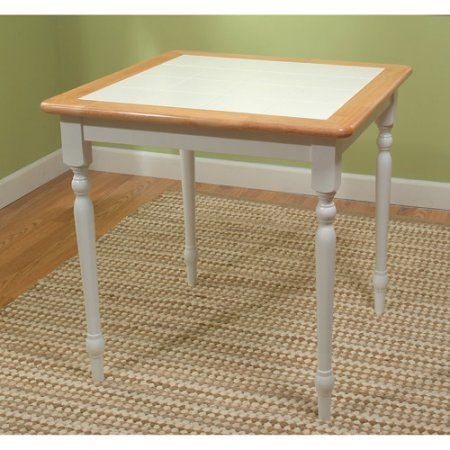Tile Top Dining Table White Natural Finish Casual Style Wooden Frame With Tile Table Top Ki Dining Table Solid Wood Dining Chairs Square Wood Dining Tables