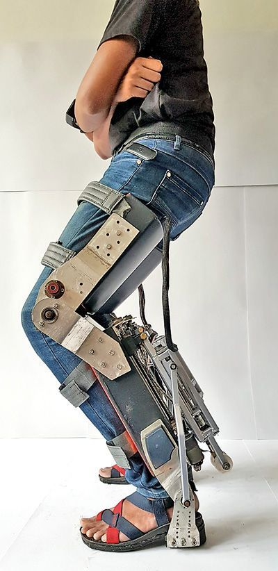 Robotic Exoskeleton Chair For Industrial Workers Textiles Fashion Wearable Wearable Device