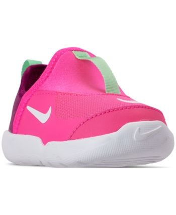 Nike Toddler Girls Lil Swoosh Athletic Sneakers From Finish Line Hyper Pink White Aphid Gr Kids Shoes Sale Kids Shoes Black Nike Shoes