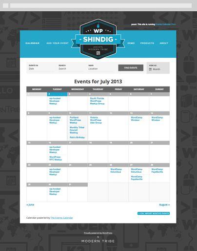 Events Calendar Pro  Wordpress