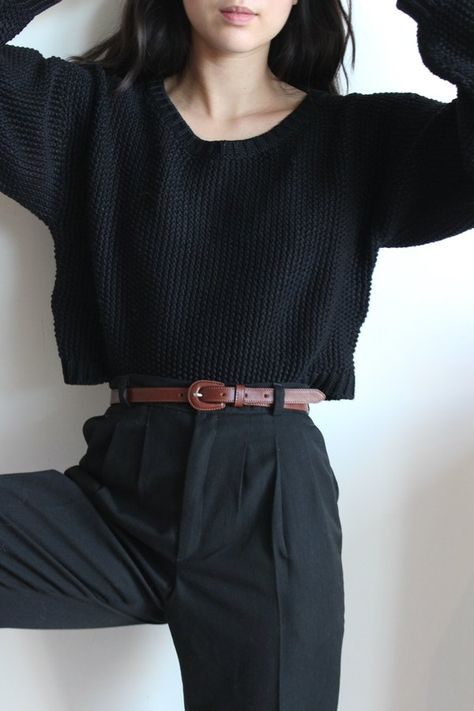 First Rite Crop Pullover on Garmentory Mode Outfits, Casual Outfits, Fashion Outfits, Office Outfits, Office Attire, Girl Outfits, Female Outfits, Modesty Fashion, Layering Outfits