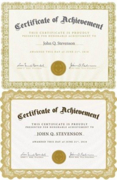 fancy certificate template