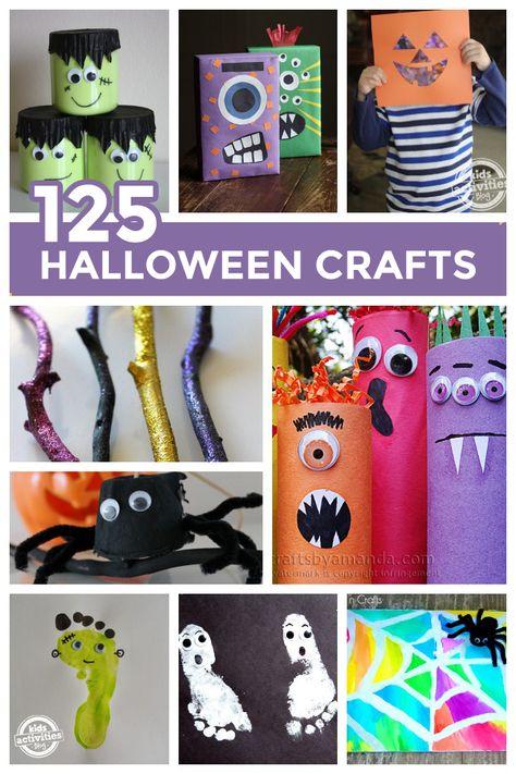 A Huge List of Halloween Crafts {125 Ideas!}