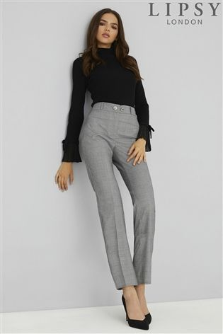 dbcb81b308ee Lipsy Check Trousers | Work Attire in 2019 | Formal attire women business,  Work attire women, Formal trousers women