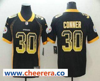 super popular a7f1f 8e123 Men's Pittsburgh Steelers #30 James Conner Black 2018 ...