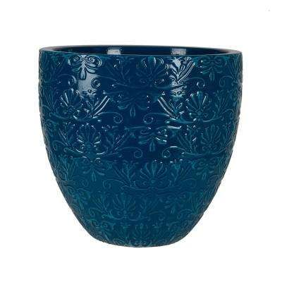 Fairfield 15 08 In W X 14 17 In H Teal Patina Resin Decorative Planter Decorative Planters White Ceramic Planter Planters