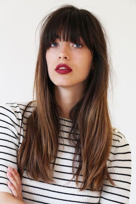 French Girl Beauty Guide Long Hair Styles Hair Styles Long Hair With Bangs