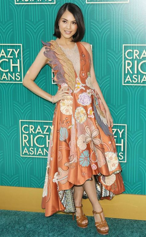 Carmen Soo from Crazy Rich Asians World Premiere The actress (in Melinda Looi Couture) plays Francesca Shaw, Nick's ex-girlfriend.