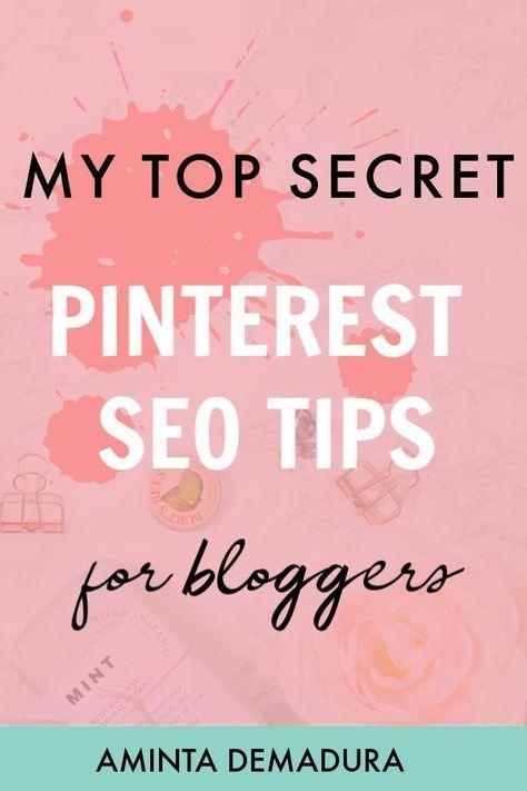My Top Secret Pinterest SEO Tips for Blog Traffic - AmintaDemadura.com