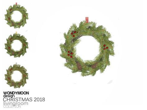 Decorazioni Natalizie The Sims 4.Christmas 2018 Decorations Christmas Wreath Found In Tsr