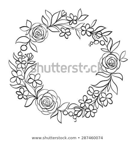Schoner Monochromer Schwarzweiss Blumenrundrahmen Handgezeichneter Hintergrund Stickmuster Kostenlos Stickerei Blumen Handstickerei Ideen