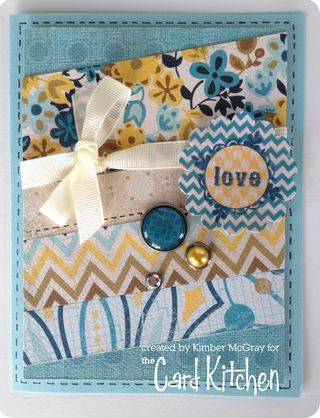 Love  card by Kimber McGray for the Card Kitchen Kit Club using the May 2014 kit