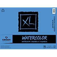 Canson Xl Series Watercolor Textured Paper Pad For Paint Pencil Ink Charcoal Pastel And Acrylic Fold Over 140 Pound 11 X 1 In 2020 Paper Pads Canson Watercolor Texture