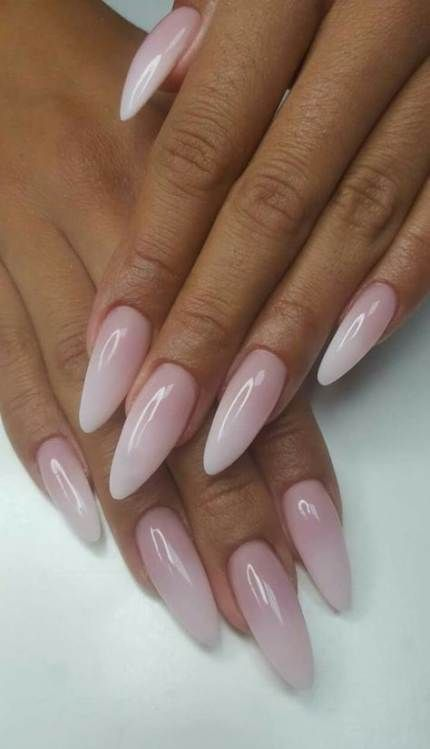Nails Art Almond Ombre 52 New Ideas Ombre Nails Almond Acrylic Nails Almond Nails Designs