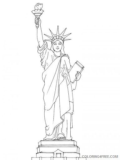 Collection Of Landmarks Around The World Cute Coloring Pages