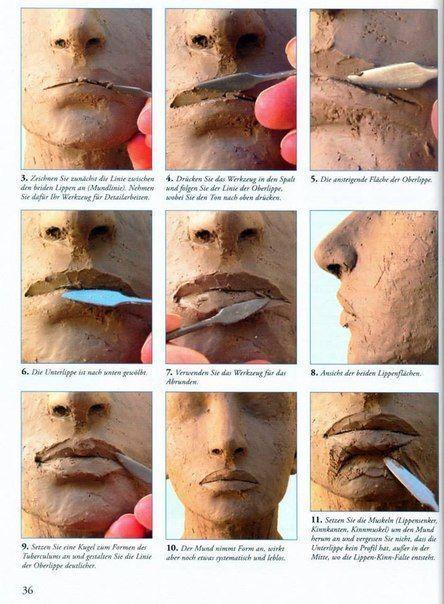 Wonderful Photo Clay sculpture techniques Tips Foto,