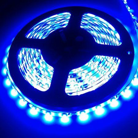 Outad Waterproof Super Bright 5m 3528 Smd 300 600 Led Flexible Strip Light 12v Blue With Images Led Flexible Strip Strip Lighting Blue Led Lights