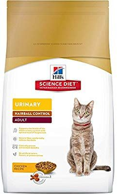 Amazon Com Hill S Science Diet Adult Urinary Hairball Control Cat Food Chicken Recipe Dry Cat Food 15 5 Lb B Hills Science Diet Science Diet Dry Cat Food
