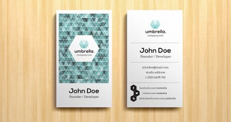 Corporate Business Card Vol Business Cards Templates Pixeden - Business card vertical template