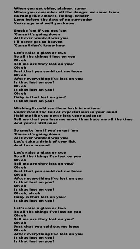 Parole Lost On You : parole, Lyrics