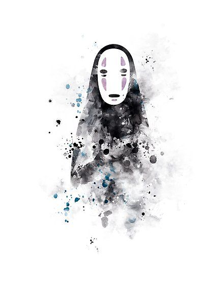 No Face Noface Spiritedaway Art Photographic Print Gift Ideas Hayao Miyazaki Studio Ghibli Anime A El Viaje De Chihiro Shihiro Diseno De Acuarela