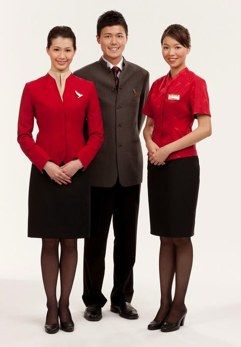 Cathay Pacific cabin crew new uniform started in July 2011
