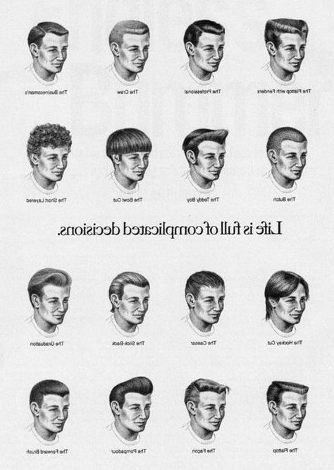 Verschiedene Frisur Namen für Jungs