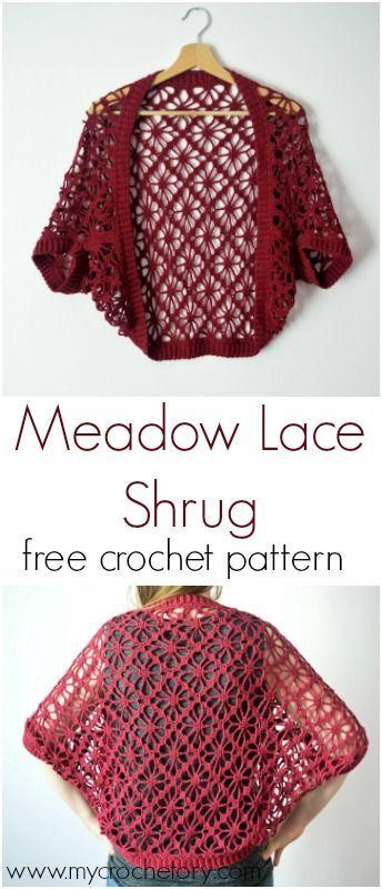 Meadow Lace Shrug Free Crochet Pattern Blogger Crochet Patterns We