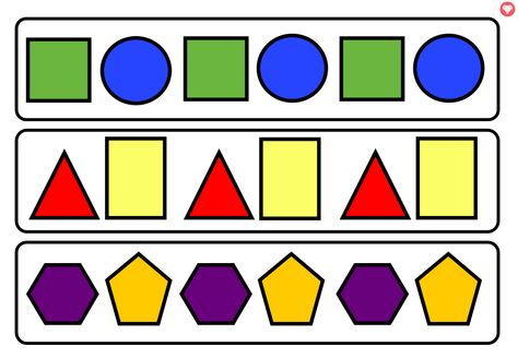 A Set Of 30 2d Shape Repeating Pattern Cards A Great Resource