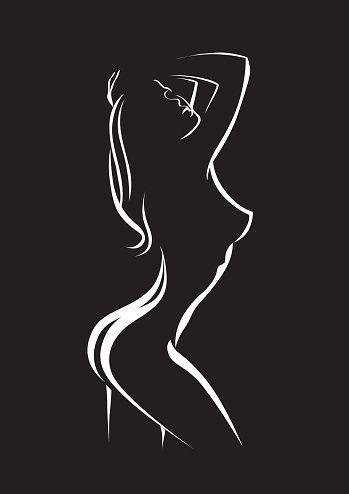 Schönheit silhouette der Frau