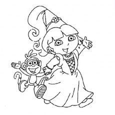 Coloriage Dora La Princesse A Imprimer Gratuit Coloriage Dora Coloriage En Ligne Gratuit Coloriage