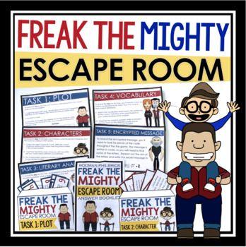 Freak The Mighty Escape Room Novel Activity Freak The Mighty Novel Activities Room Novel