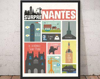 Affiche Nantes Minimaliste Noir Et Blanc Xxl Nantes Poster Frame Art Inspiration
