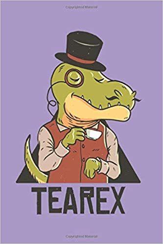 Tea Rex MENS T SHIRT cute dino dinosaur t-rex cartoon gift