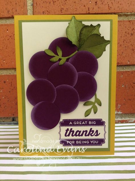 New Farmers Market Dsp Inspired Punch Art Fruit Vegetables Cards