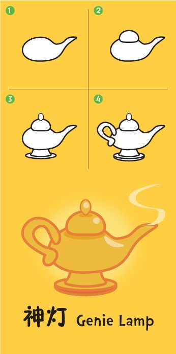 Genie Lamp Drawing : genie, drawing, Genie, Lamp,, Drawing, Kids,, Childrens, Lamps