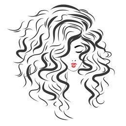 Pin By Svetlana Z On Diy Shirt Ideas Hair Vector Curly Hair Drawing Hair Illustration