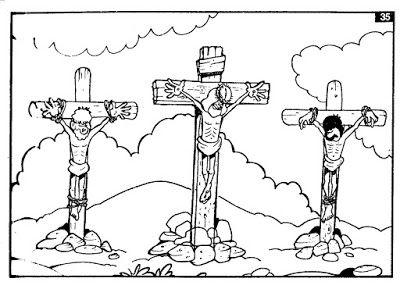 Crucifixion De Jesus Para Colorear Crucifixion De Jesus Paginas Para Colorear Jesus Para Colorear