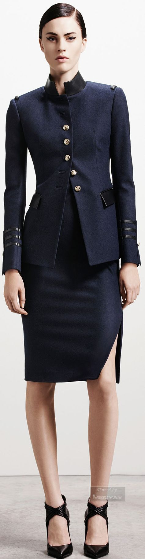 Modern Picture The Forties Military influence on women's suits