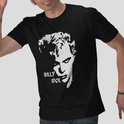 Details about  /Billy Idol Wearing Jacket With Chinese Writing Adult T Shirt Punk Rock Music