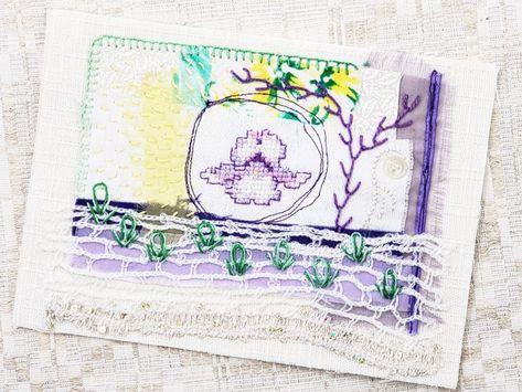 Lyrical Dragonfly Hearts Original Art Frameable Greeting Card Set of 4 aqua /& peach