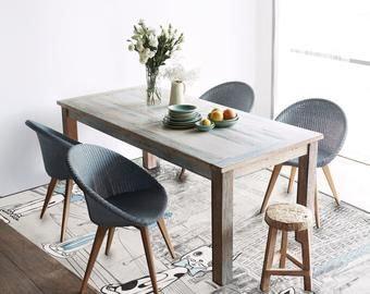 Kitchen Rustic Floor Rug Blue Mat, Vinyl Floor Mats For Dining Room