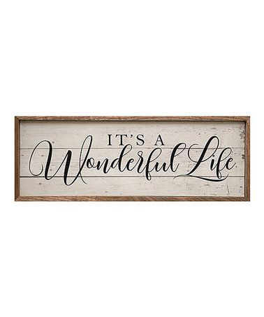 Love This Script It S A Wonderful Life Wall Art On Zulily