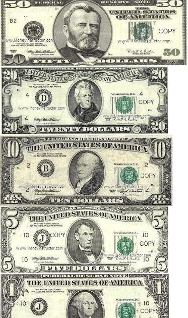fun money template