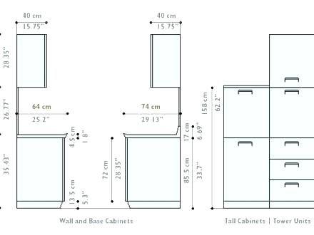 Kitchen Cabinet Dimension Upper