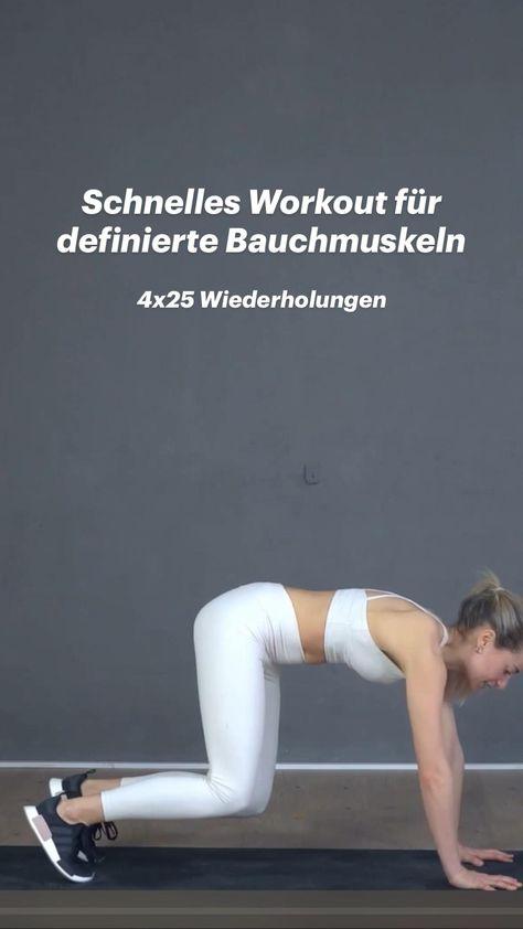 Schnelles Workout für definierte Bauchmuskeln